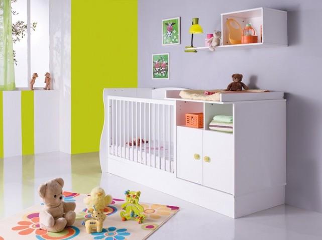2 1 lit volutif combin pour b b table de. Black Bedroom Furniture Sets. Home Design Ideas