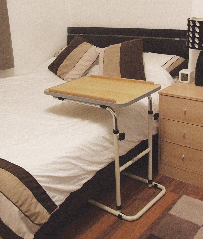 La table de lit à roulettes est indispensable en convalescence