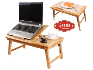 Table de lit pliable SoBuy pour PC portable